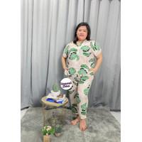 Monstera set jumbo - pajamas piyama big size / setelan baju tidur XXXL