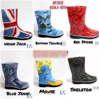 Sepatu Boots Anak AP BOOTS Kids New Usia 3-10th - Chat Stok Ready, Size 22