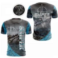 Baju Jersey SNIPER Full Printing / Promo / Murah Berkualitas / SNP01 - S, GREYBLUE