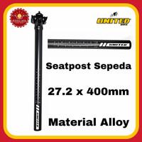 UNITED Seatpost Sepeda 27.2 x 400mm