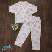 Amaris Piyama Kancing Anak Cewe 4 - 14 Tahun Motif Rainbow Bintik