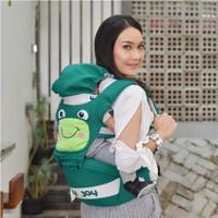 Gendongan Bayi Depan Baby Joy Froggie Chick Series ~ Gendongan Hipseat - Hijau