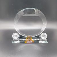 P81-S Plakat kristal Trophy Crystal tropi Golf Piala Dunia tinggi 16CM