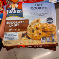 quaker oat cookies chocolate chips 270gr
