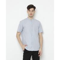 Kemeja Pria Erigo Short Shirt Ixora Katun Grey - S
