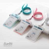 Bantex Transparent ID Card Holder Lanyard Potrait #8868