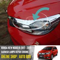 Garnish Lampu Depan New Mobilio Chrome 2017-2021