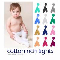 Legging Bayi Warna Polos / Cotton Rich Tights