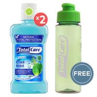 TOTAL CARE Anti Bacterial Mouthwash Coolmint - 250 mL | Buy 2 Get 1 Tu