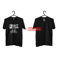 Kaos T-Shirt Sepeda Night Riders Premium Fosfor Glow In The Dark