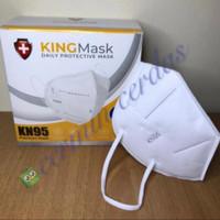 [ KINGMASK ] Masker KN95 Premium Mask Medis 5 Ply isi 20 Pcs Kemenkes - Putih