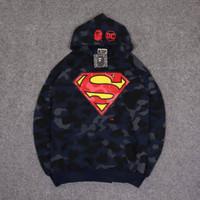 Jaket Hoodie BAPE X DC Superman Camo Premium Cotton Jumper Pullover