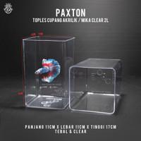 Toples Cupang 2 Liter Paxton / Toples Akrilik Mika 2L