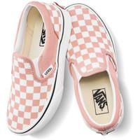 VANS KIDS SLIP ON CHECKERBOARD SALMON WHITE ORIGINAL Sepatu Anak