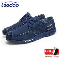 Leedoo Sepatu Pria Sport Korea Sepatu Kasual kanvas Kerja Santai J11