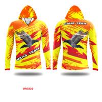 Kaos Baju Jersey Burung Merpati Dara Balap Kicau Hoodie Tudung BAD223 - XS
