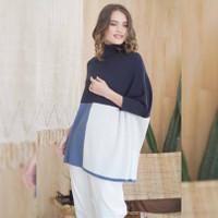Trisha Knit Blouse in Beatrice Clothing - Atasan Wanita - Blue