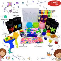 Terlengkap Paket Sensory Play Mainan Montessori dan Painting