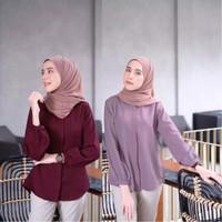 PROMO Baju Kemeja Blouse Keyra Cantik Lengan Panjang Wanita Murah