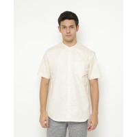 Kemeja Pria Erigo Short Shirt Baram Katun Cream - S