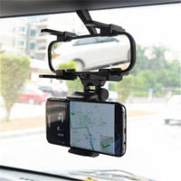 Car Rearview Mirror Mount Phone Holder Hp Spion Tengah Mobil