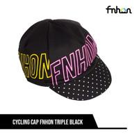 FNHON CYCLING CAP TRIPLE BLACK