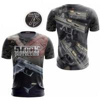 Baju Jersey GLOCK Full Printing / Promo / Murah Berkualitas / GL03 - S, BLACK