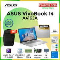 ASUS VIVOBOOK A416JA i3-1005G1 4GB 256GB 14 FHD OHS W10 BACKLIGHT