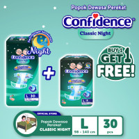 Confidence Popok Dewasa Classic Night L 30 FREE Classic Night L 7