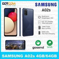 Samsung A02s Ram 3/32 4/64 Garansi resmi Samsung BNIB No Repack - Hitam, 4/64Gb
