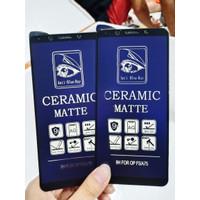 Ceramic Glass Oppo F5 Anti Gores Keramik Matte Blue Light