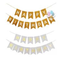 Banner Happy Birthday / Bunting Flag Ulang Tahun Glitter