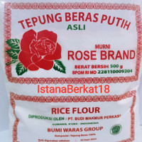 Tepung beras Rose brand 500 gr