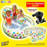 Kolam Renang Anak Set Intex RingBaby Pool Pompa Bak Mandi Karet Balon