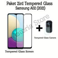 Tempered Glass Samsung A02 Paket Anti Gores Layar dan Kamera Belakang