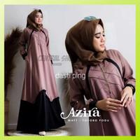 Baju Gamis Pesta Syari Muslim Wanita Remaja Azira Dress Terbaru Murah
