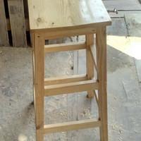 bangku kayu/kursi kayu tinggi 100cm