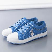 Sepatu Wanita cantik terbaru musim semi biru versi Korea flat SP-011 - Biru Muda, 37
