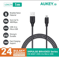 Kabel Mikro Aukey USB A to Micro USB 1 meter Braided