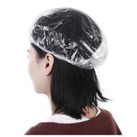 Shower Cap Pelindung Kepala Penutup Kepala Bahan Plastik Bening