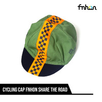 FNHON CYCLING CAP SHARE THE ROAD GREEN