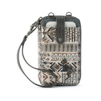 Sakroots Wristlet Smartphone Natural Brave Beauti