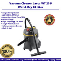 Vacuum Cleaner Lavor 20 Liter Low Watt High Power Wet & Dry Vakum