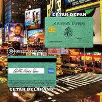 KARTU FLAZZ BCA GEN 2 CUSTOM | EMONEY DESIGN AMEX GREEN CARD E MONEY