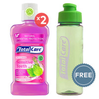 TOTAL CARE Anti Bacterial Mouthwash Sensitive Teeth - 250 mL | Buy 2 G