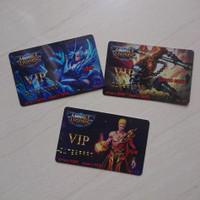 kartu vip mobile legends ML mainan anak
