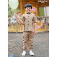 Set Koko deni COKSU/Baju Muslim Anak/Setelan Ngaji Anak Cowo Terbaru