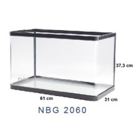 Aquarium Ikan - Akuarium Nisso Jepang Manta - Kaca Lengkung NBG 2060