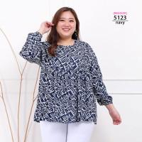 Blouse Wanita Jumbo Motif Baju Atasan Bigsize XXL LD120 Katun Rayon