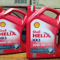 Oli Shell Helix HX3 SAE 20W-50 4L Original